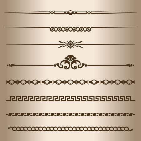 dividing: Decorative lines  Design elements - dividing lines and ornaments  Vector illustration  Illustration