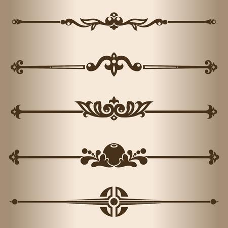 dividing: Decorative lines  Design elements - dividing lines  Vector illustration