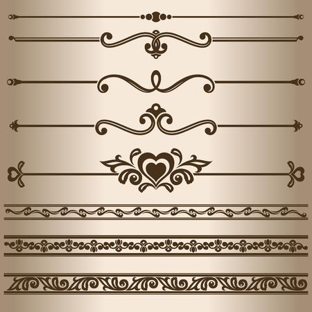 decorative lines: L�neas decorativas. Los elementos de dise�o - l�neas divisorias y adornos.