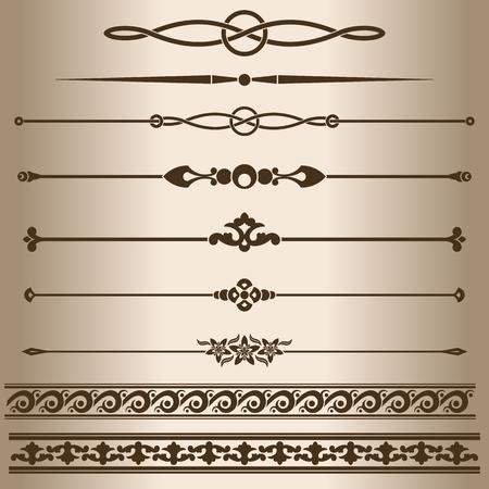 decorative lines design elements dividing lines and ornaments