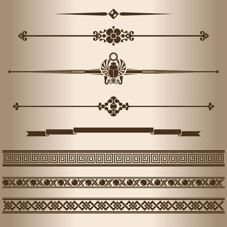 scheidingslijnen: Decoratieve lijnen. Design elementen - scheidslijnen en ornamenten. Vector illustratie.