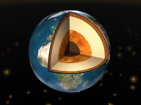 cutaway: Earth. Earth cutaway. Structure of the Earth.