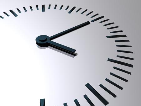 reloj: Reloj. Reloj con las manos - un s�mbolo de los tiempos. 3d ilustraci�n.