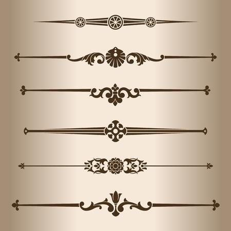 decorative line: Decorative lines. Elements for design - decorative line dividers. Vector illustration.