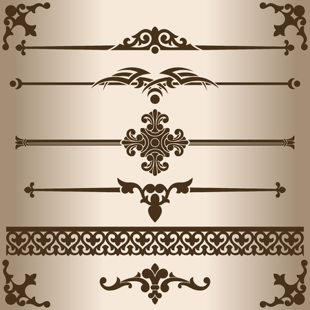 decorative design: Decorative lines. Design elements - decorative line dividers and ornaments. Vector illustration. Illustration