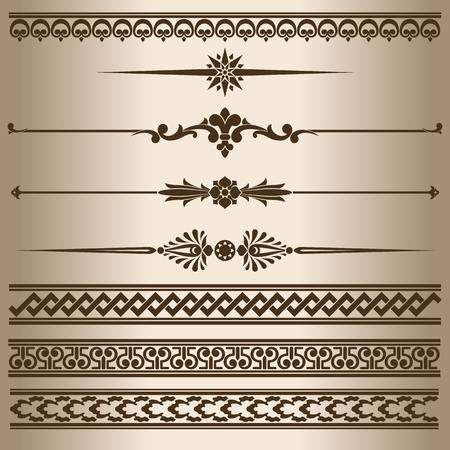 lines vector: Decorative lines. Design elements - decorative line dividers and ornaments. Vector illustration. Illustration
