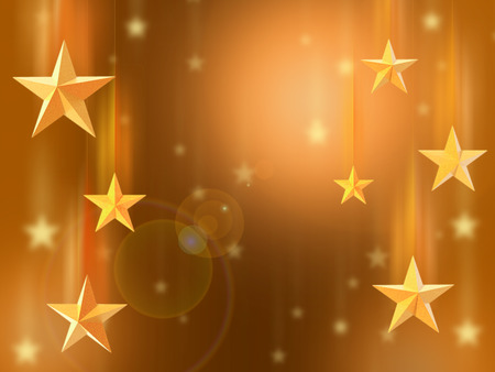starfall: Star background. Golden light background with shiny stars. Falling stars.
