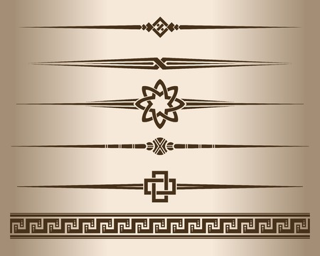 corner design: Decorative lines. Design elements - decorative line dividers and ornament. Vector illustration.