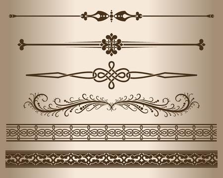 decorative lines: Decorative lines. Elements for design - decorative line dividers. Vector illustration.
