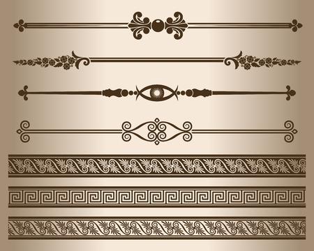 Decorative lines. Elements for design - decorative line dividers. Vector illustration.