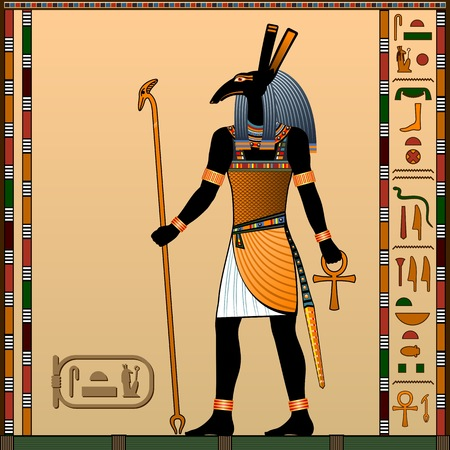 Religion of Ancient Egypt. Seth is the god of war, the sandstorms, the guardian of the god Ra. Ancient Egyptian god Seth in the guise of a man.