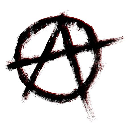 Anarchy symbol. Vector sign. Vector illustration.