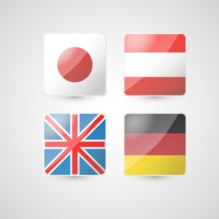 set of four flags  Vector