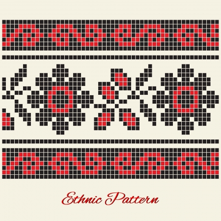 Vector ethnic pattern Stock Vector - 18446070