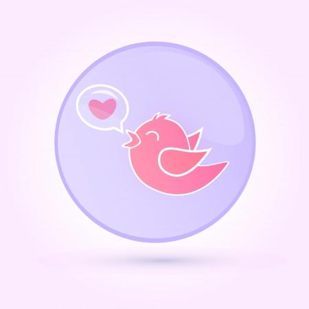 Vector illustration of love bird  Vector