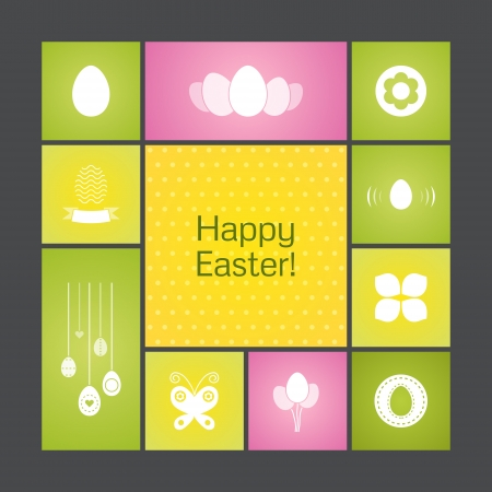 Vector background for Happy Easter. Stock Vector - 18446061