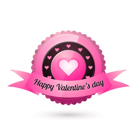 Vector greeting card for Valentine's day. Stock Vector - 18454224