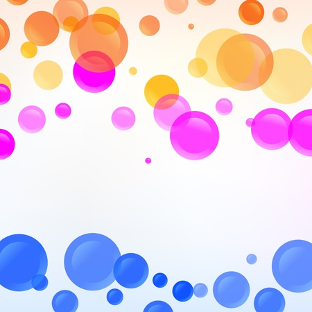 Vector background with colorful bubbles Stock Vector - 18454208