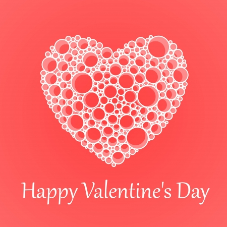 Vector card for Valentine's Day with heart. Stock Vector - 18586511