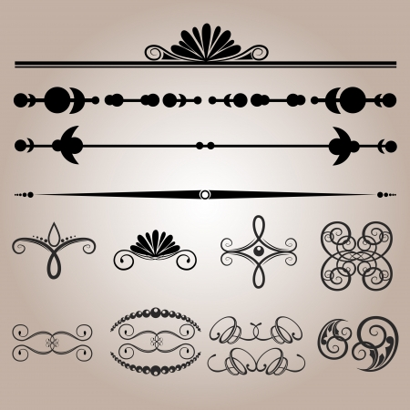Vector set of vintage elements. Vector