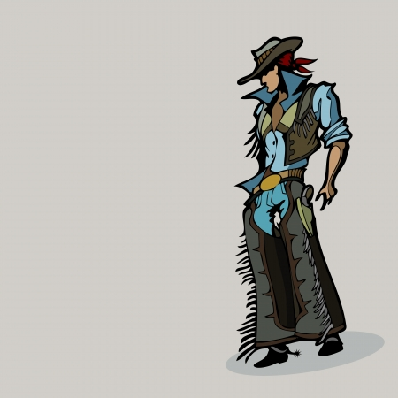 Vector illustration of Western cowboy Vector