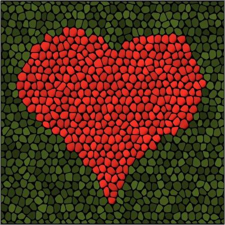 Mosaic heart. Vector illustration. Vector