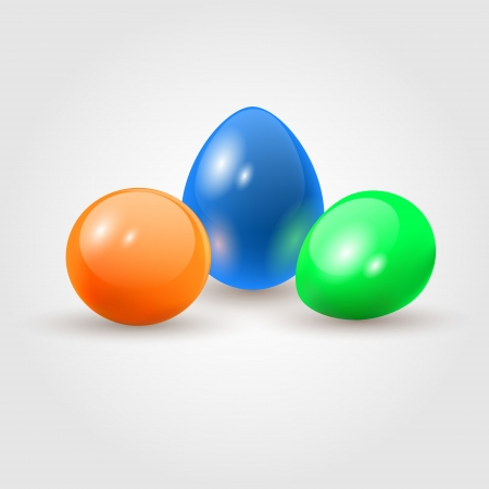 Colorful easter eggs. Vector illustration. Stock Vector - 18586490