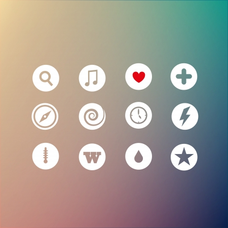 Vector set of icons Vector