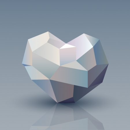 illustration of geometric heart Vector