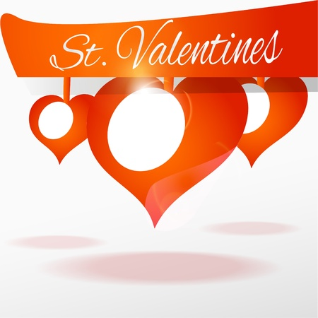 background with hearts for Valentine's day Stock Vector - 18694498