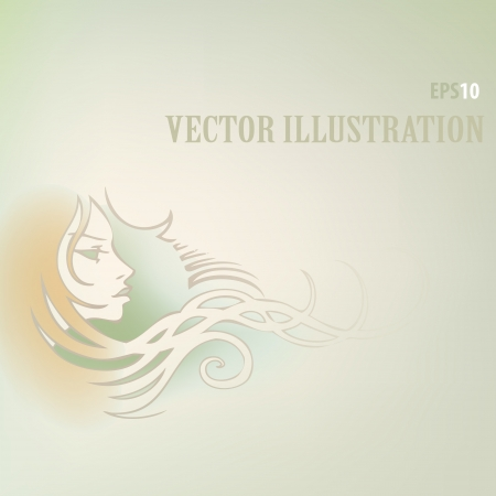 Vector background with woman face Stock Vector - 18694489