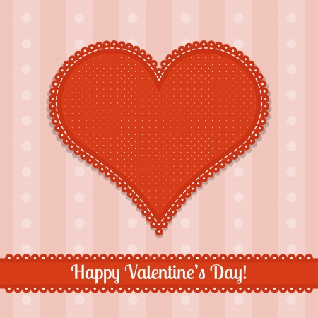 card for Valentine's Day Vector