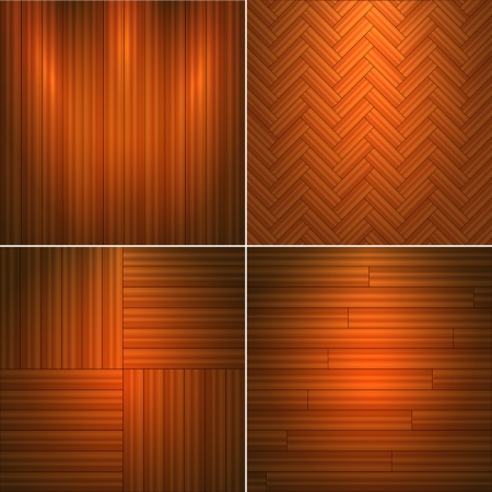 Set of wooden textures illustration. Vector