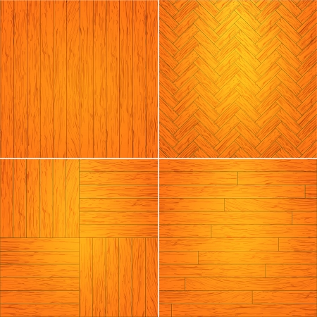 Set of wooden textures illustration. Stock Vector - 18694508