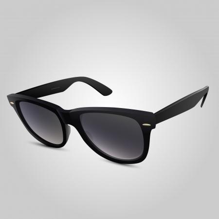 illustration of a black sunglasses. Stock Vector - 18694484