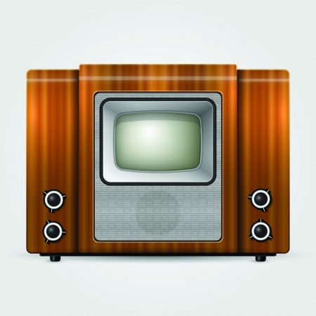 Old tv, vintage vector illustration. Stock Vector - 18694538