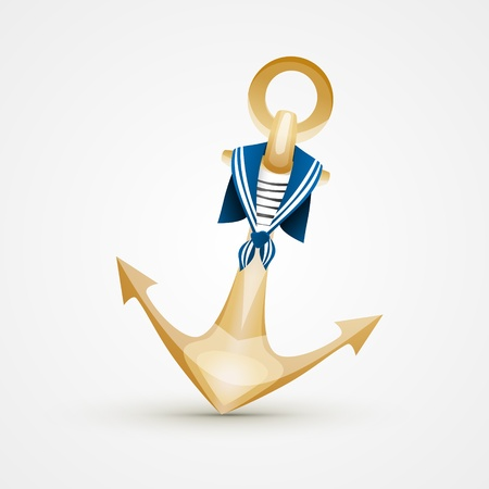 Gold Anchor Vector