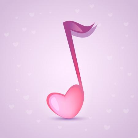 Musical love key Stock Vector - 18694456