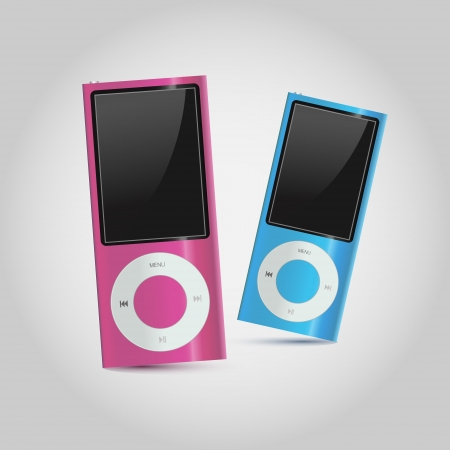 Modern mp4 players Vector