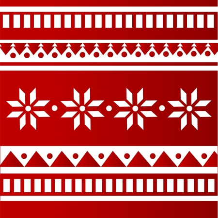 red folk background Vector