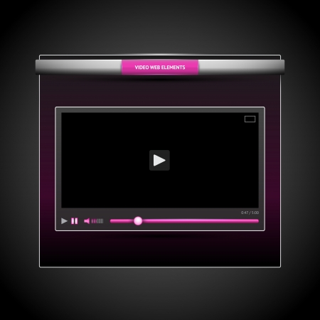 video player  Stock Vector - 18694360