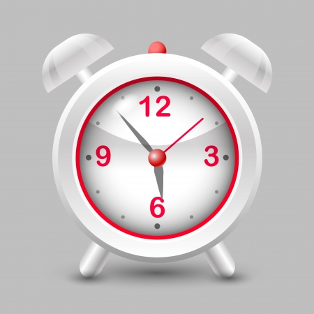 illustration of a red alarm clock. Stock Vector - 18694468