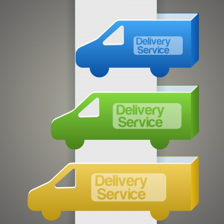 Delivery truck with delivery sign Vector