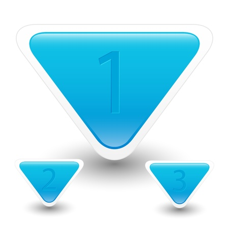 Blue buttons with numbers Vector