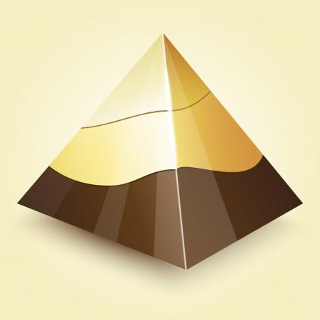 Pyramid illustration. Vector