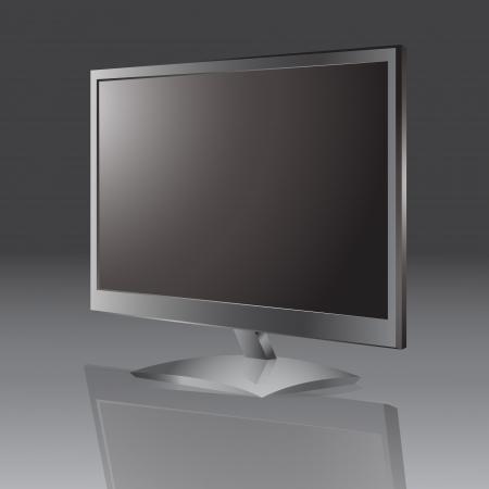 lcd tv monitor. Stock Vector - 18769636