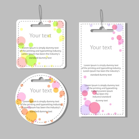 set of colored labels Vector