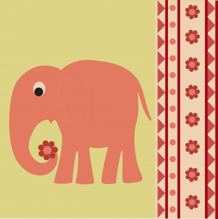 background with elephant Vector