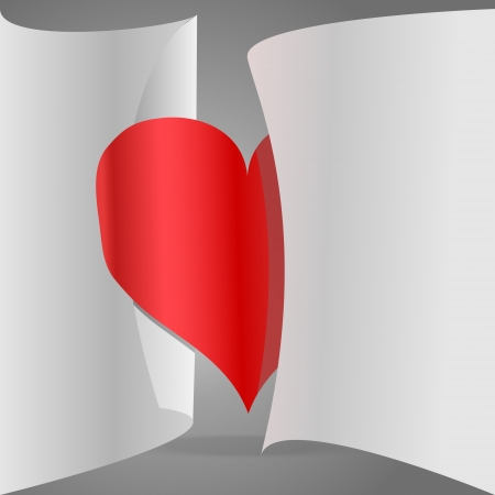 paper heart Stock Vector - 18770001