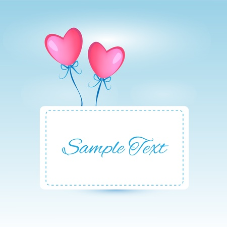 background with heart shaped balloons Stock Vector - 18769852